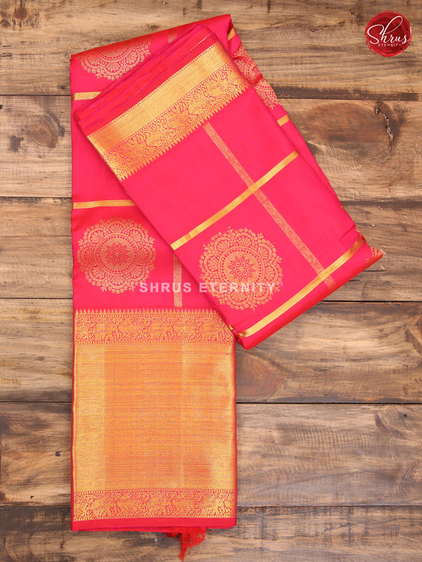 Fuschia Pink (Monochrome)  - Kanchipuram Silk