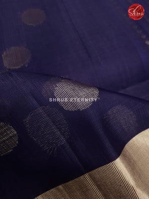 Prussian Blue (Single Tone) - Organza Silk