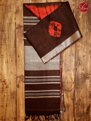 Red & Dark Brown - Shibori - Shop on ShrusEternity.com