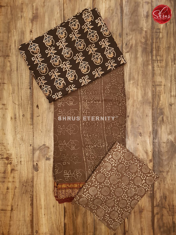 Black & Brown - Ajrakh Salwar Suit