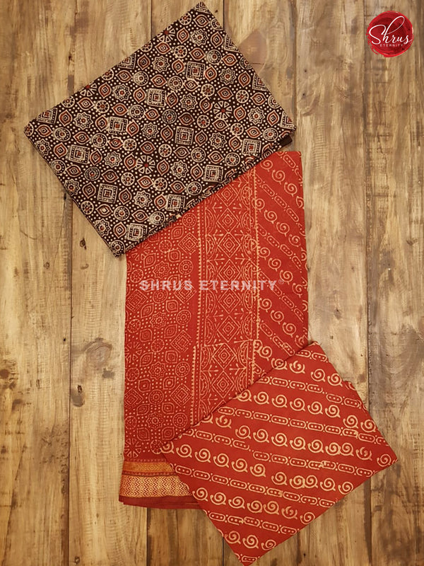 Black & Red  - Ajrakh Salwar Suit