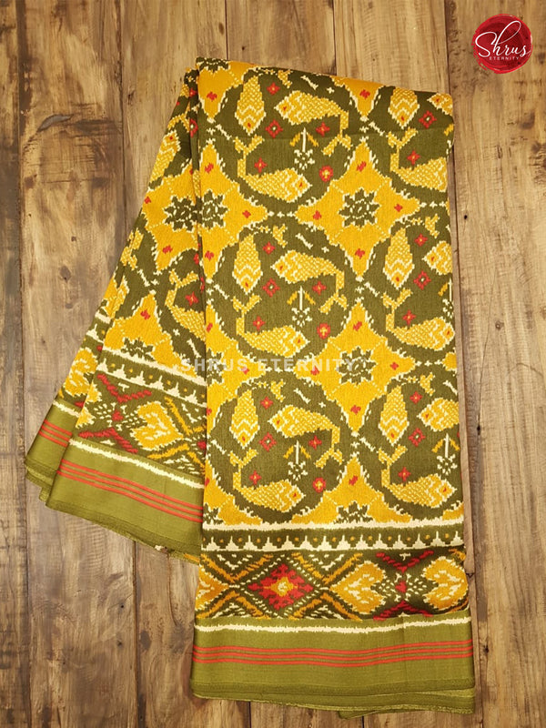 Yellow & Green - Cotton Silk - Shop on ShrusEternity.com