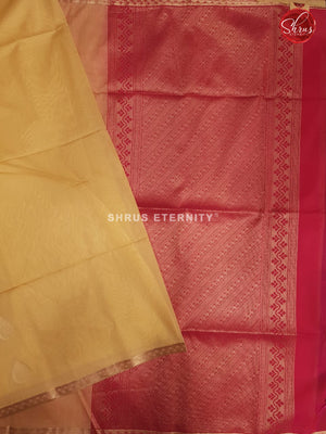 Pale Yellow & Red - Kora Cotton