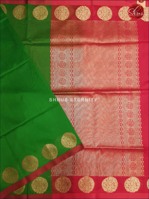 Light Green & Red - Kora Cotton
