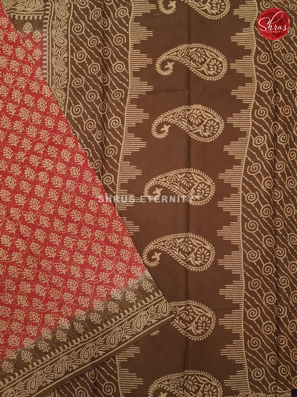 Red & Brown - Jaipur Cotton