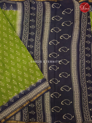 Light Green & Blue - Jaipur Cotton