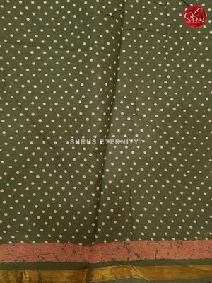 Sap Green(Single Tone) - Jaipur Cotton