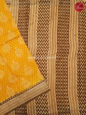 Yellow & Brown - Jaipur Cotton