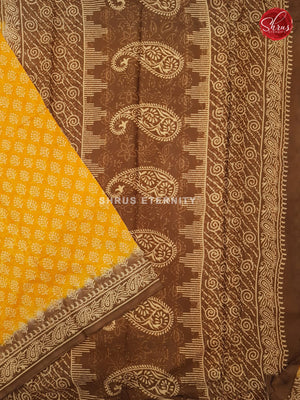Bright  Yellow & Brown - Jaipur Cotton