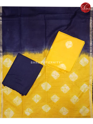 Lime Yellow & Blue  - Shibori  Salwar Suit - Shop on ShrusEternity.com