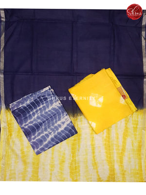Yellow & Blue - Shibori  Salwar Suit - Shop on ShrusEternity.com