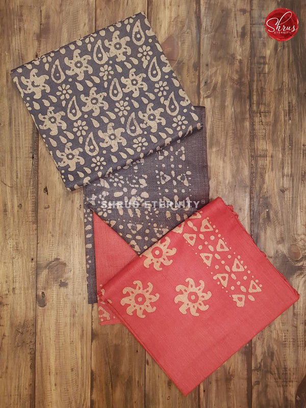 Ash Grey & Red  - Bhatik Salwar Suit