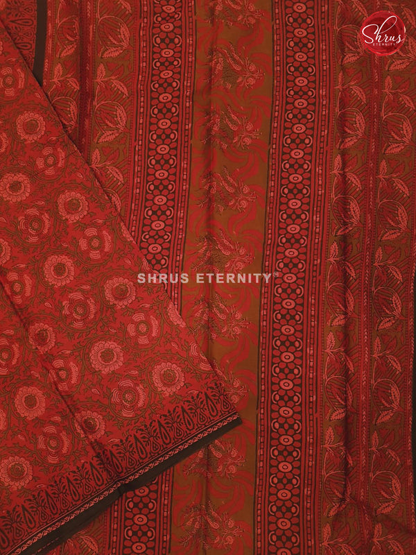 Brick Red (Single Tone) - Jaipur Cotton