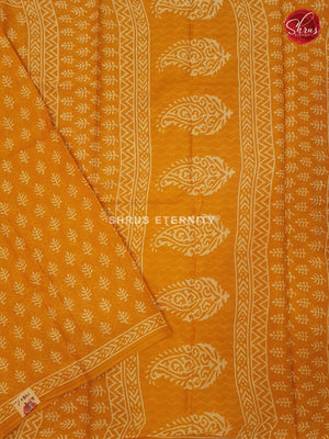 Mango Yellow (Single Tone) - Jaipur Cotton