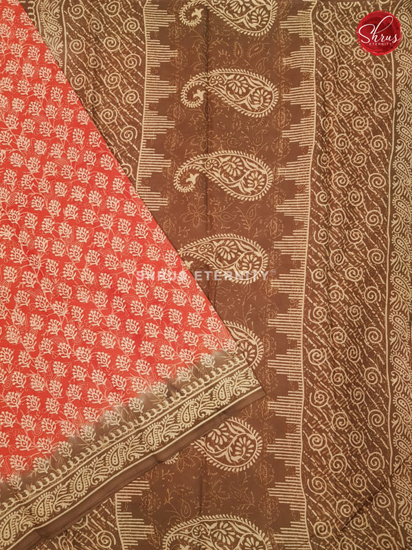 Orange & Brown - Jaipur Cotton