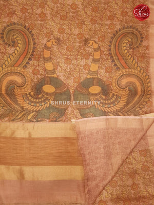 Pale Pink & Orange  - Chanderi - Shop on ShrusEternity.com