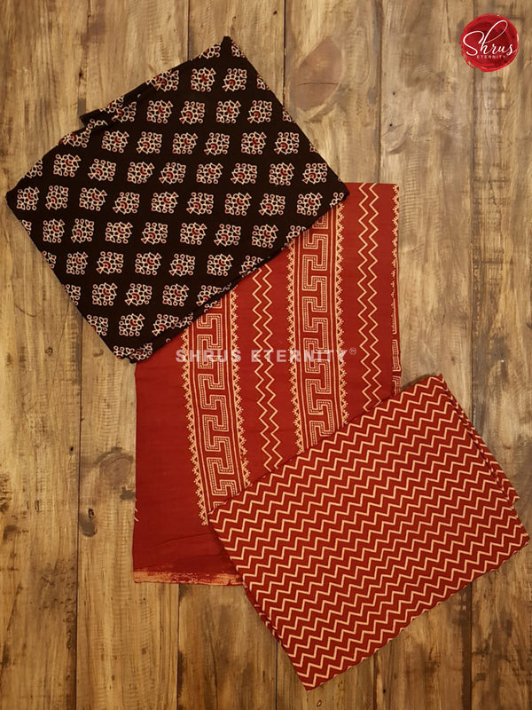 Black & Red - Ajrakh Block print