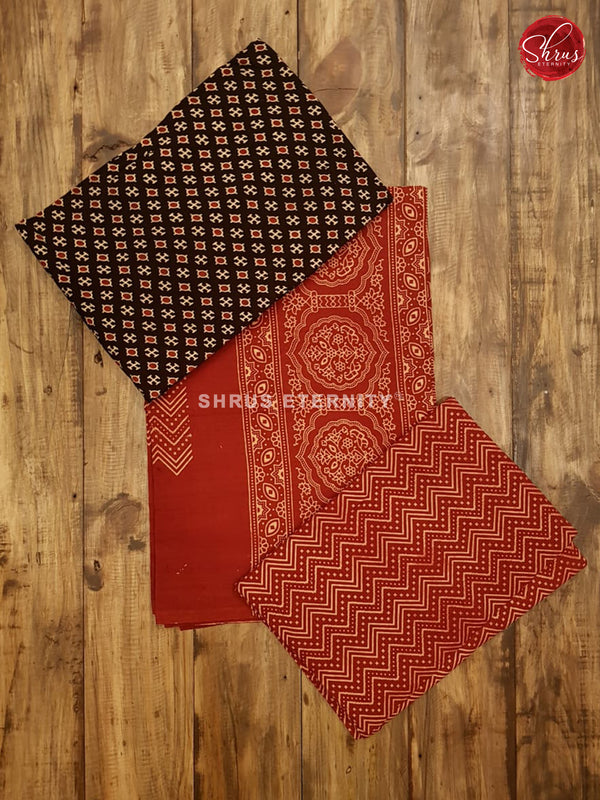 Black & Brick Red - Ajrakh Block print