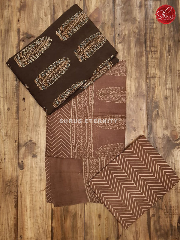 Black & Brown   - Ajrakh Block print