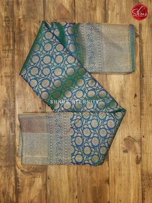 Peacock Blue(Single Tone) - Kanchipuram Silk