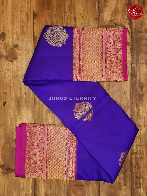 Royal Blue & Purple - Kanchipuram Silk