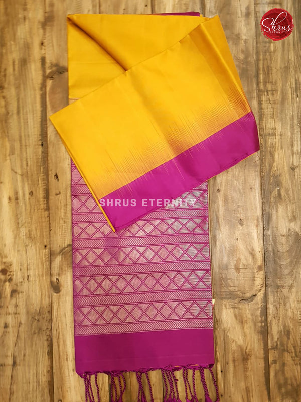 Mustard Yellow & Purple  - Soft Silk