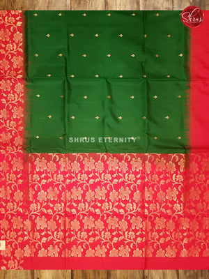 Dark Green & Red  - Soft Silk - Shop on ShrusEternity.com