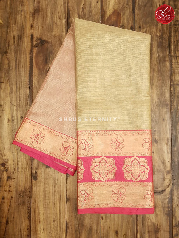 Gold & Pink - Semi Banarasi - Shop on ShrusEternity.com