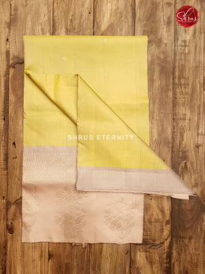 Pale Yellow & Beige - Soft Silk