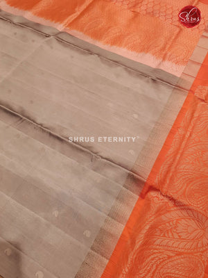 Ash Grey & Orange - Soft Silk