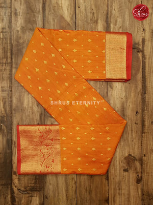 Orange & Red - Silk Cotton