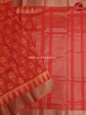 Red(Single Tone) - Pochampally Silk Cotton