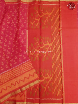 Red & Orange - Pochampally Silk Cotton