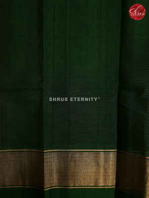Deep Pink & Sap Green - Pochampally Silk Cotton