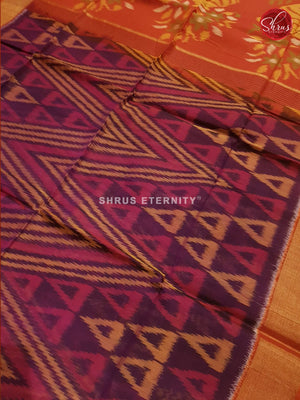 Violet & Orange - Pochampally Silk Cotton