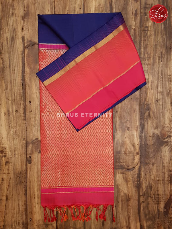 Blue & Orange/Pink -  Soft Silk
