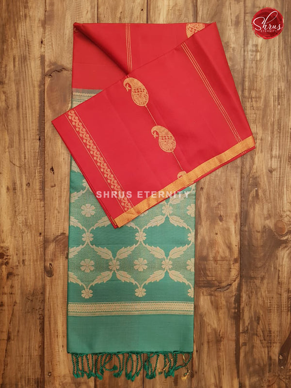 Red & Jade  Green -  Soft Silk