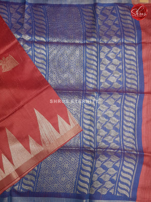 Red & Blue - Raw Silk