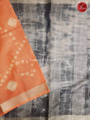 Orange & Grey - Shibori