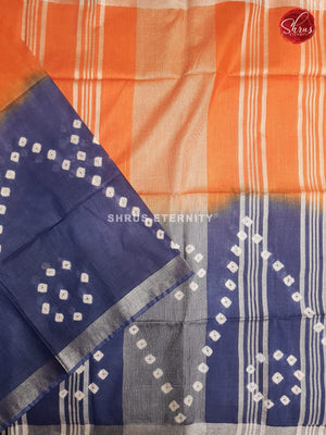 Orange & Blue - Shibori