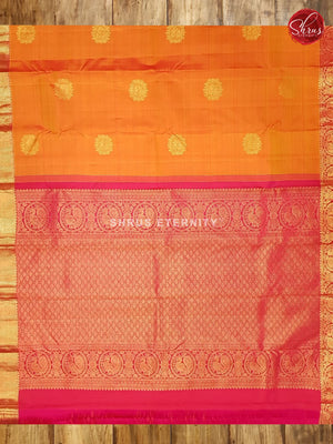 Mustard & Pink- Kanchipuram Silk - Shop on ShrusEternity.com
