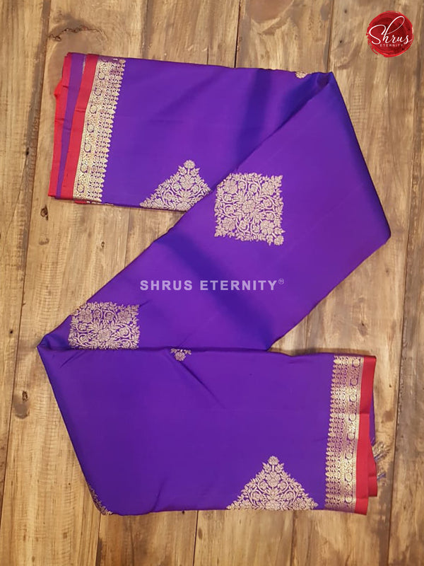 Violet & Reddish Pink  - Kanchipuram Silks