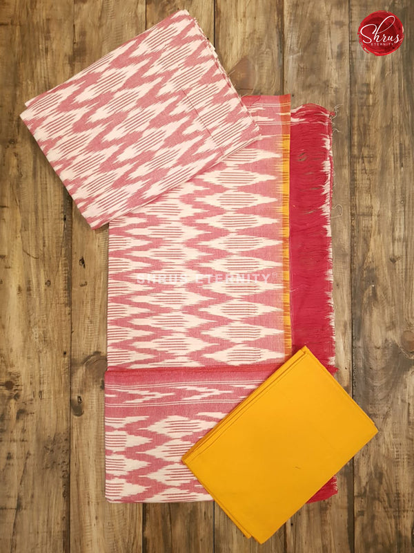 Pink & Yellow - Ikkat Cotton Salwar