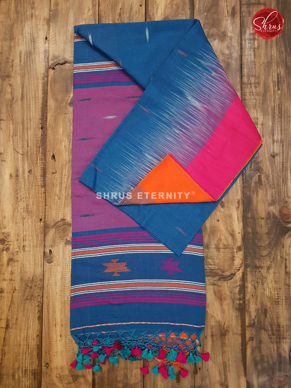 Blue & Pink - Bengal Cotton - Shop on ShrusEternity.com