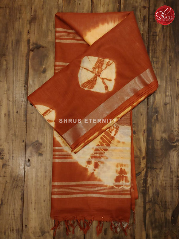 Pastel Yellow & Brown - Shibori