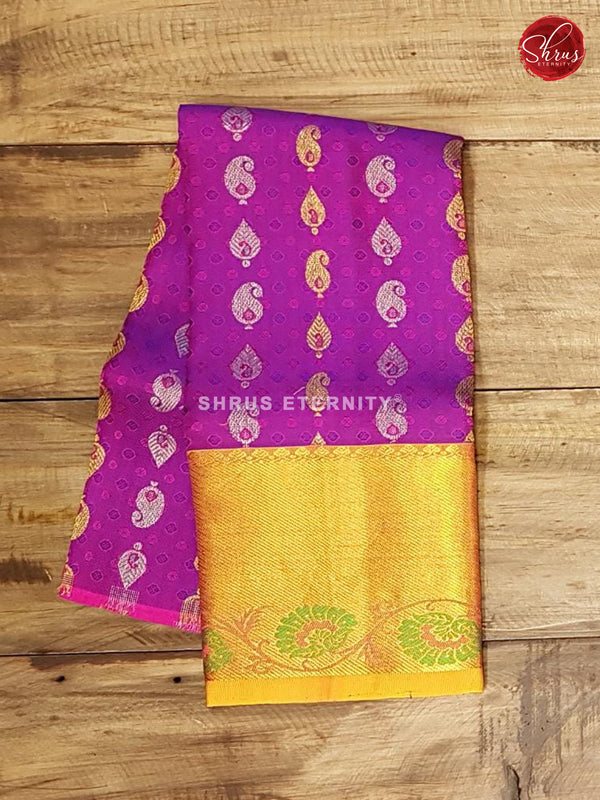 Pink & Violet - Pattu Pavadai 0-2 Years - Shop on ShrusEternity.com