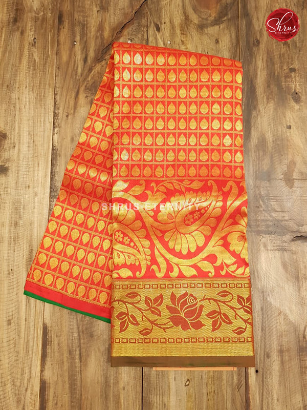 Green & Red - Pattu Pavadai 3-6 Years - Shop on ShrusEternity.com