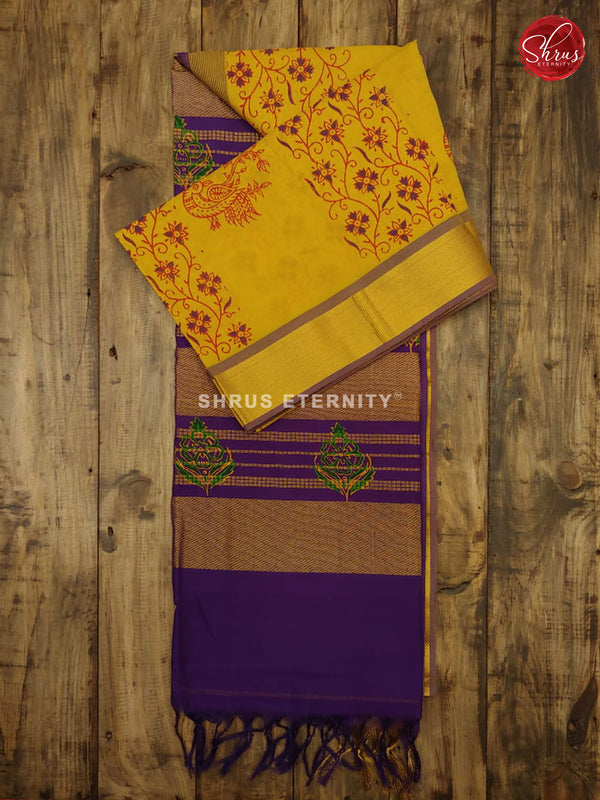 Yellow & Violet - Semi Silk - Shop on ShrusEternity.com
