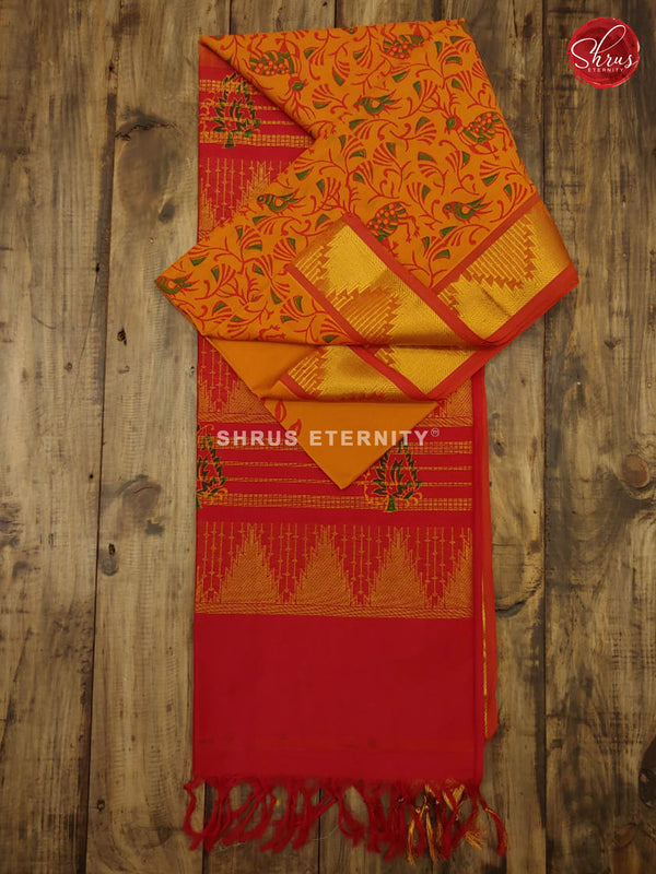 Mustard & Red - Semi Silk - Shop on ShrusEternity.com