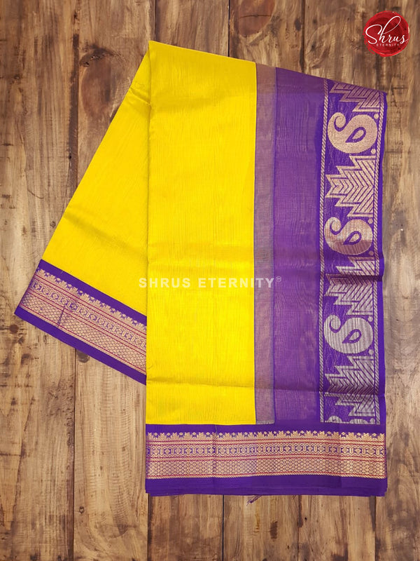 Yellow & Blue - Silk Cotton